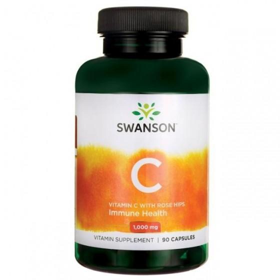 SWANSON / СУОНСЪН витамин C с шипка 90 капсули
