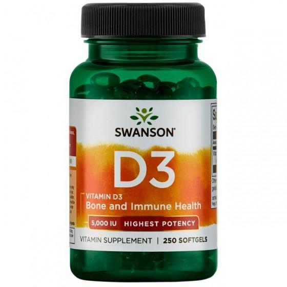 SWANSON / СУОНСЪН витамин D3 5000 IU 250 капсули