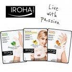 IROHA Комплект Fresh с ръкавици праскова и чорапи мента + маска за лице + подарък несесер