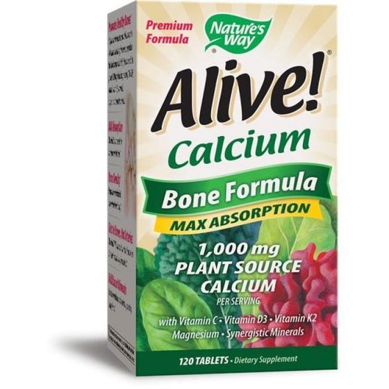Alive/Алайв Калций Растителна Формула за кости 120 таблетки