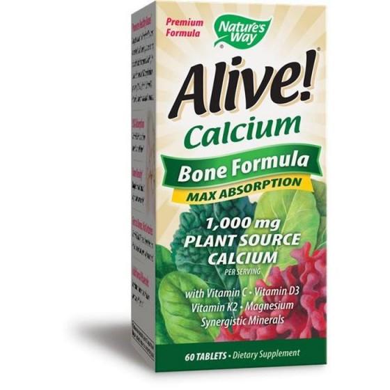 Alive/Алайв Калций Растителна Формула за кости 60 таблетки