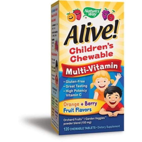 Alive/Алайв Мултивитамини за деца 120 дъвчащи таблетки
