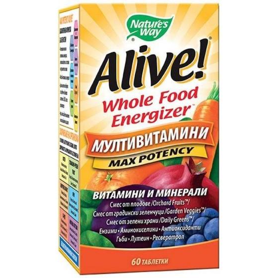 Alive/Алайв Мултивитамини 60 таблетки