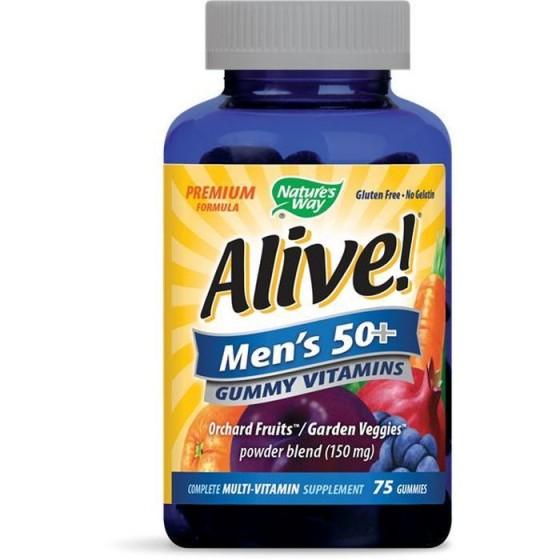 Alive/Алайв мултивитамини за мъже 50+ 75 желирани таблетки