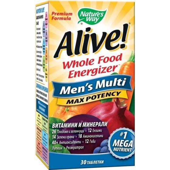 Alive/Алайв мултивитамини за мъже 30 таблетки