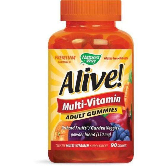 Alive/Алайв Мултивитамини за възрастни 90 желирани таблетки
