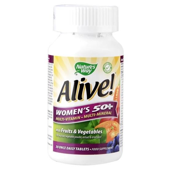 Alive/Алайв мултивитамини за жени 50+ 30 желирани таблетки