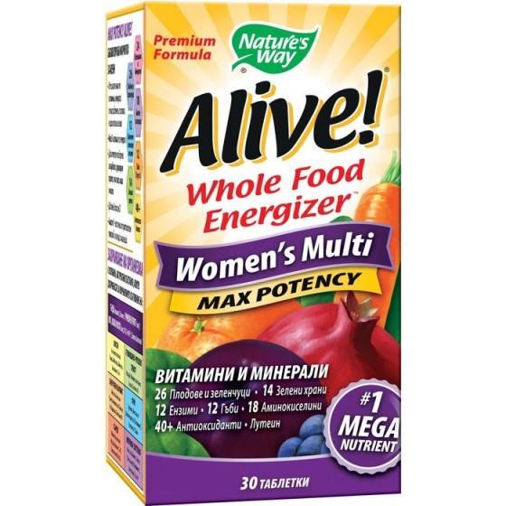 Alive/Алайв мултивитамини за жени 30 таблетки