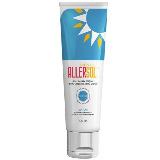 ALLERSOL / АЛЕРСОЛ SPF30 слънцезащитен крем след слънце 100 мл