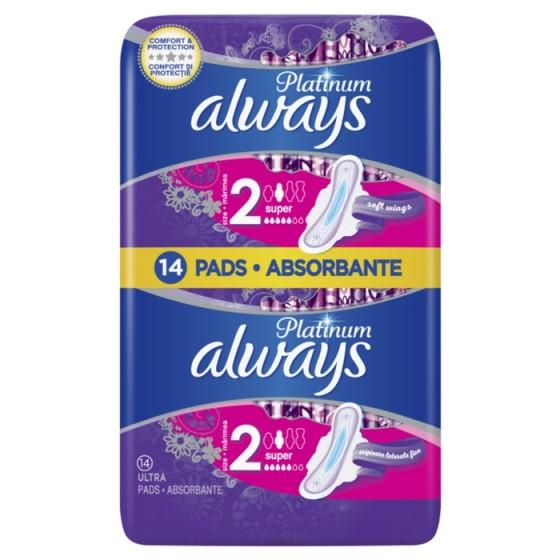 ALWAYS Platinum Super Duo 14 дамски превръзки