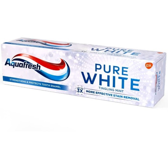 AQUAFRESH / АКВАФРЕШ Pure White Tingling Mint паста за зъби 75 мл