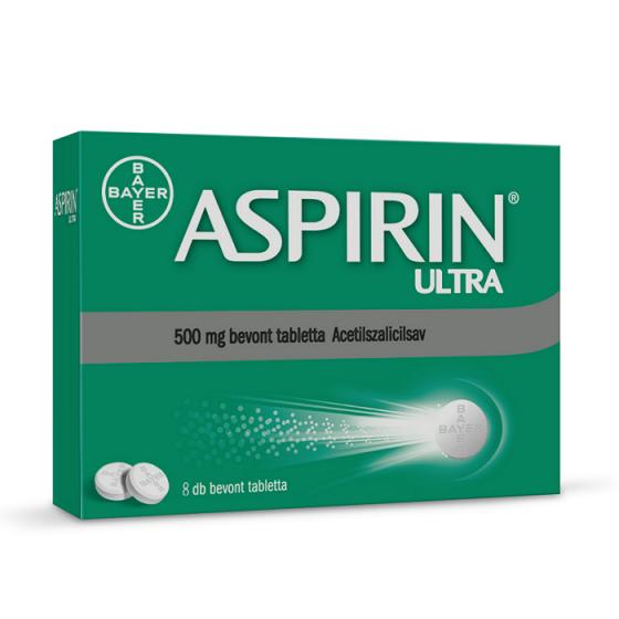 BAYER ASPIRIN ULTRA / АСПИРИН УЛТРА при простуда и грип 500 мг