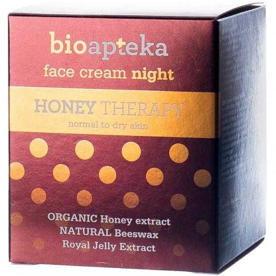Bioapteka Honey Therapy нощен крем за лице с мед 40 мл