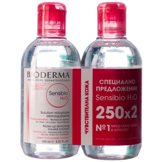 BIODERMA Sensibio H2O мицеларна вода за чувствителна кожа 2 х 250 мл