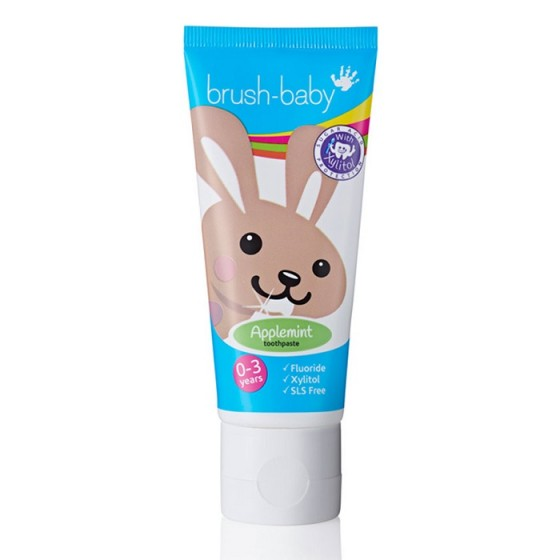 BRUSH-BABY Applemint детска паста за зъби 0-3 г.