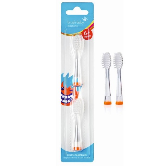 BRUSH-BABY KidzSonic / БРЪШ БЕЙБИ накрайници за детска електрическа четка за зъби 6+