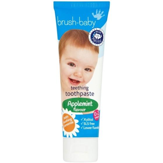 BRUSH-BABY бебешка паста за никнещи зъбки с екстракт от лайка 0-2 г.