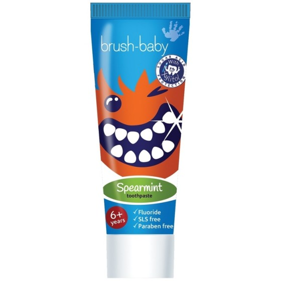 BRUSH-BABY Spearmint детска паста за зъби 6+ г.