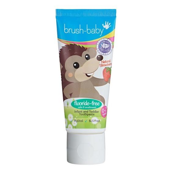 BRUSH-BABY / БРЪШ БЕЙБИ бебешка паста за никнещи зъбки с екстракт от ягода 0-2 г.