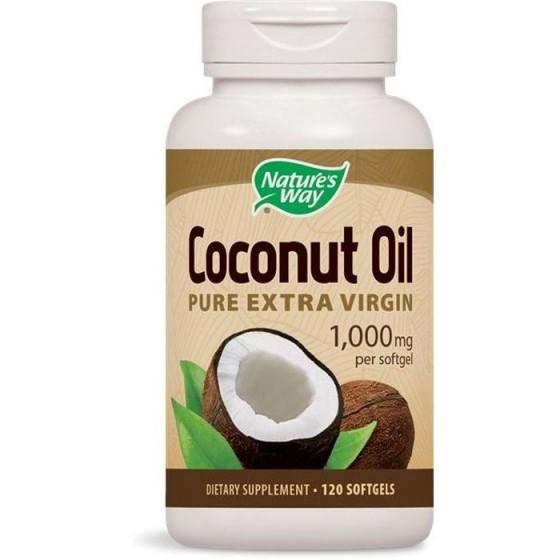 Nature\'s Way Coconut Oil / Кокосово масло Органик 1000 mg 120 софтгел капсули