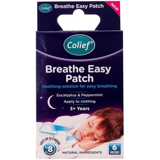 Colief Breathe easy patches / Колийф лепенки за по-лесно дишане през нощта, 6 бр