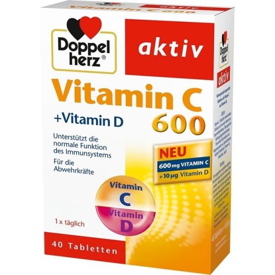 Допелхерц актив Витамин С 600 + витамин D 40 таблетки