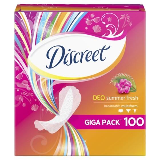 DISCREET Deo Summer Fresh 100 ежедневни дамски превръзки