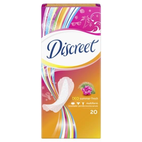 DISCREET Deo Summer Fresh 20 ежедневни дамски превръзки