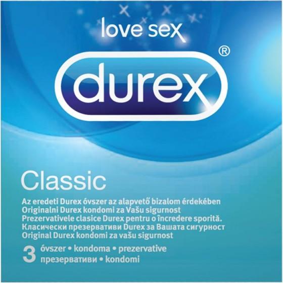 Durex Classic презервативи 3 бр.