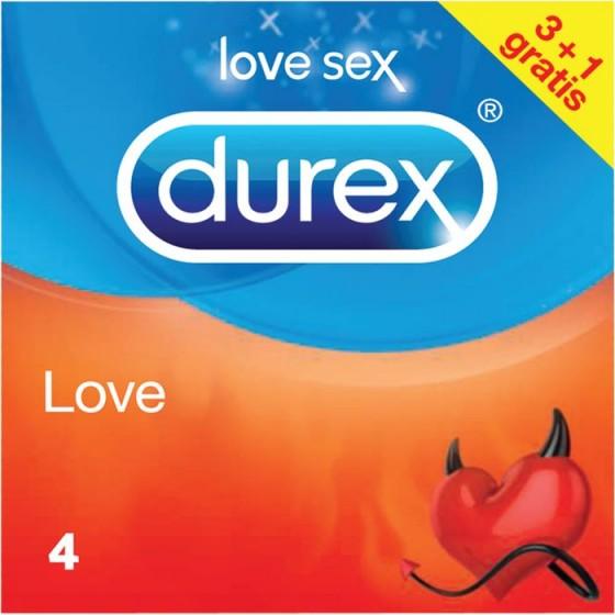 Durex LOVE презервативи 3 бр.+1