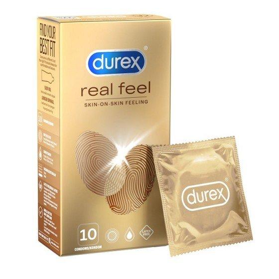 Durex Real Feel нелатексови презервативи 10 бр.