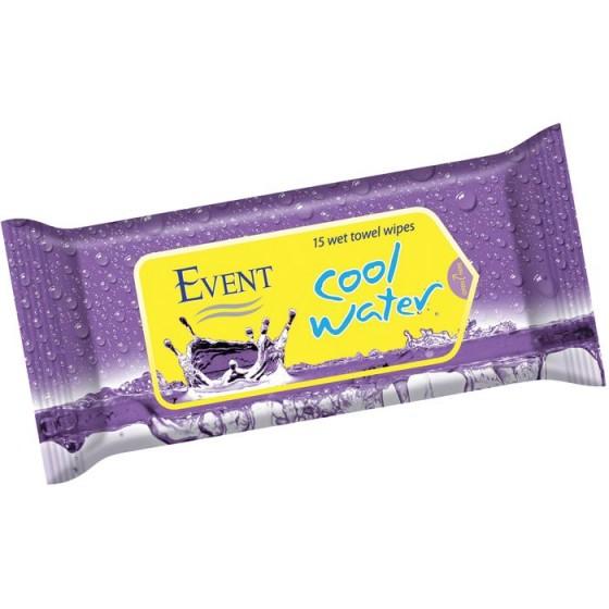 Event cool water purple кърпички 15 бр.