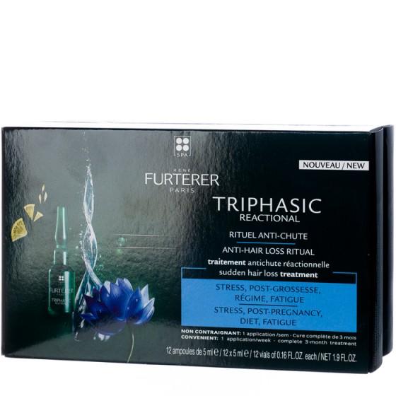 Rene Furterer Triphasic концентрат против реакционен косопад 12 ампули