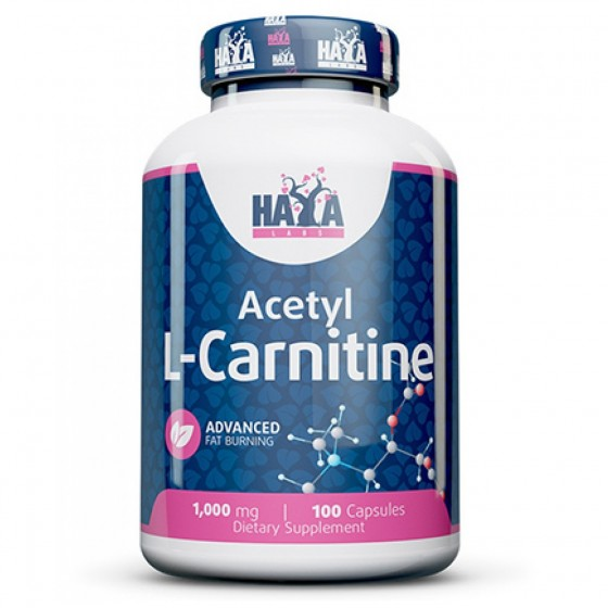 HAYA LABS Acetyl L-CARNITINE / L-КАРНИТИН 100 капсули
