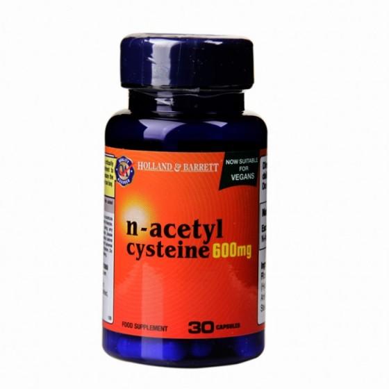 Holland + Barrett N-Acetyl Cysteine NAC 30 Капсули 600 мг