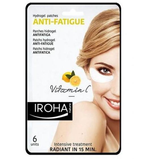 Iroha/Ироха ANTI-FATIGUE околоочни лепенки за изморени очи с Vitamin C, 6 (2x3) броя