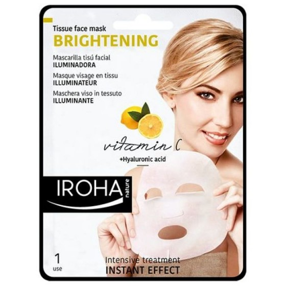 Iroha/Ироха Антиоксидантна TISSUE маска за лице с Vitamin C + HA, 1 брой