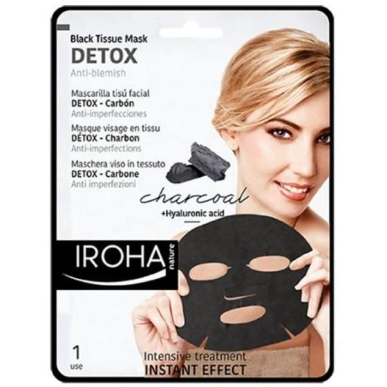 Iroha/Ироха Детоксикираща BLACK маска за лице с активен въглен, 1 брой