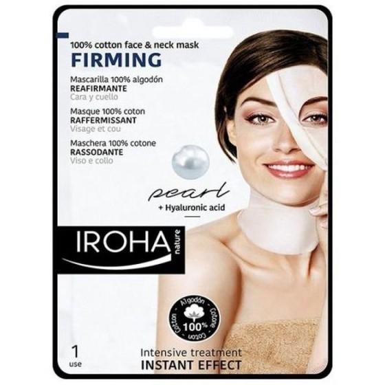 Iroha/Ироха Фирминг маска COTTON за лице и шия с морски перли, 1 брой