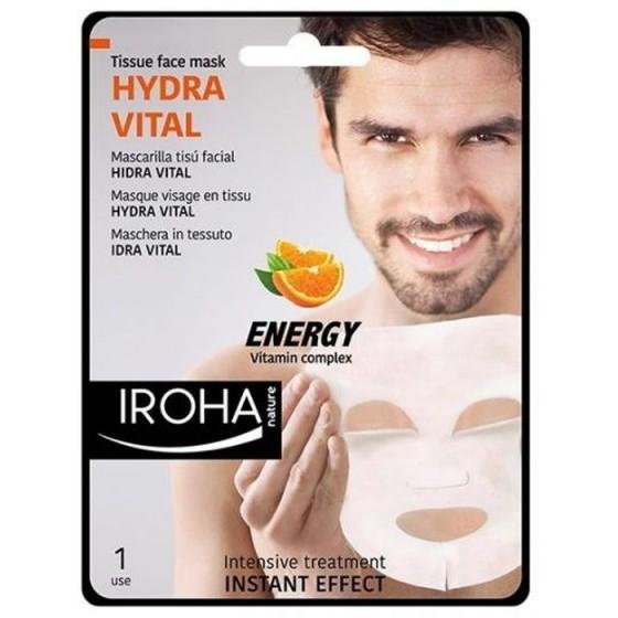 Iroha/Ироха Хидратираща TISSUE маска за лице за МЪЖЕ с витамин комплекс, 1 брой