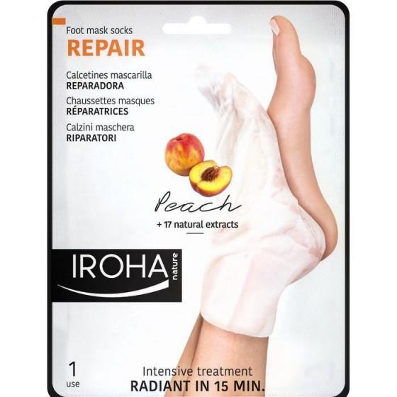 Iroha/Ироха REPAIR ЧОРАПИ с ПРАСКОВА за регенерация на сухи и изтощени ходила, 1 чифт