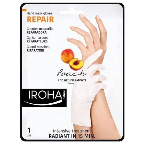 IROHA / Ироха REPAIR РЪКАВИЦИ с ПРАСКОВА за регенерация на сухи и изтощени ръце, 1 чифт