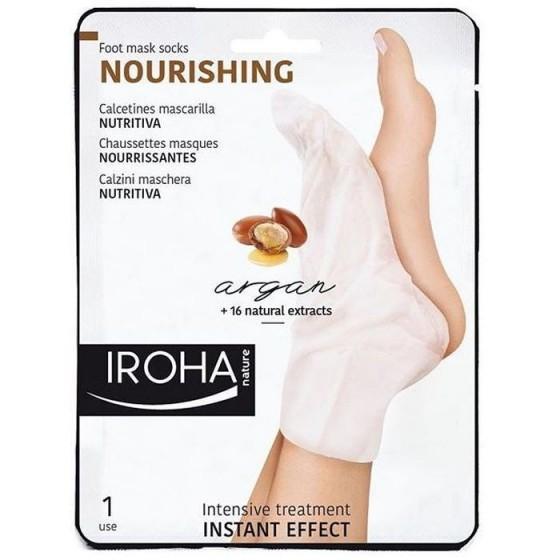 IROHA / Ироха Xtra Soft ЧОРАПИ с АРГАН за подхранена и мека кожата на стъпалата, 1 чифт