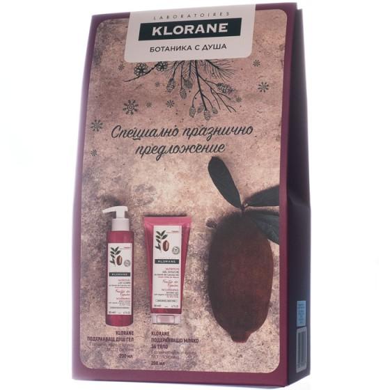 Klorane / Клоран промо комплект лист от смокиня душ гел 200 мл и мляко за тяло 200 мл