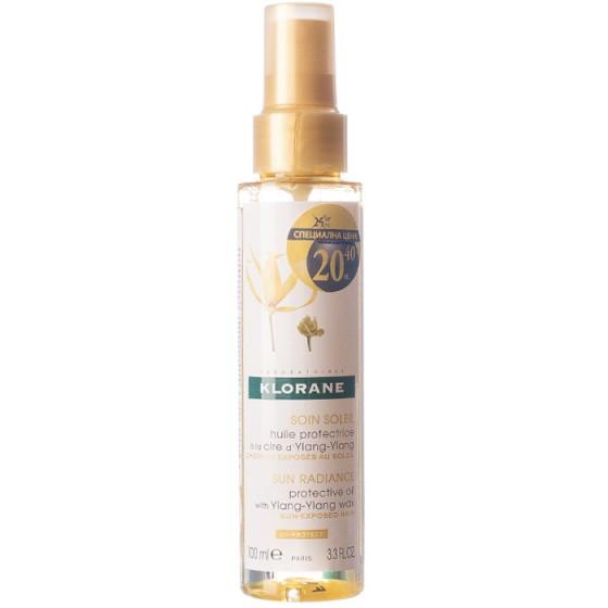 Klorane / Клоран защитно олио с восък от Иланг-иланг 100 мл