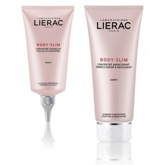 LIERAC BODY-SLIM / ЛИЕРАК БОДИ СЛИМ интензивна програма против целулит 2 продукта + масажор