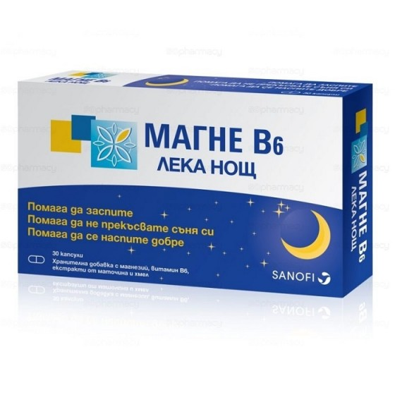 MAGNE B6 / МАГНЕ Б6 Лека Нощ 30 таблетки