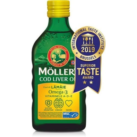 МЬОЛЕРС ОМЕГА 3 от черен дроб на треска с вкус лимон сироп 250 мл