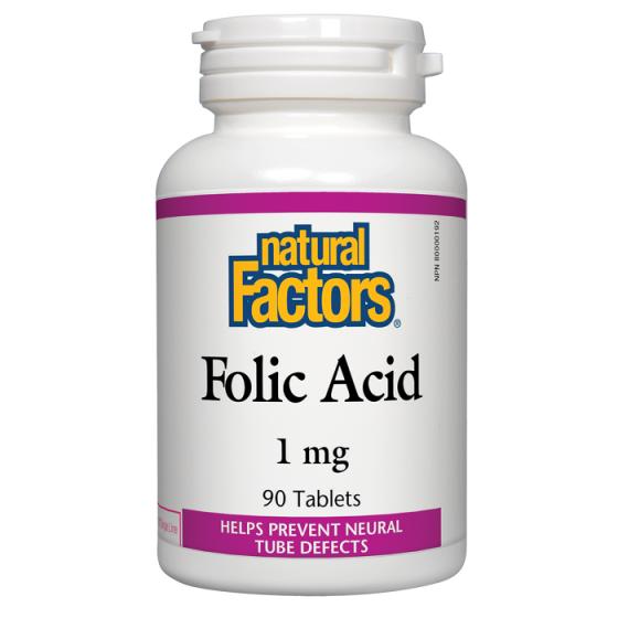 Natural Factors фолиева киселина 90 табл 1 мг
