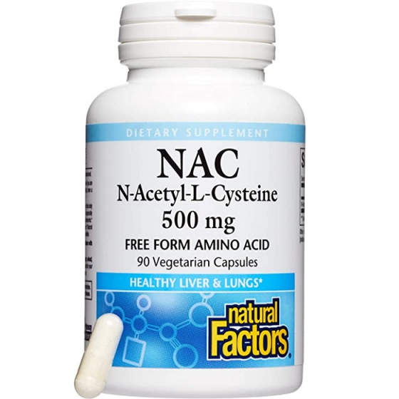Natural Factors N-Acetyl L-Cysteine 500 мг 90 капсули